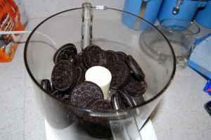 Oreos in food processor